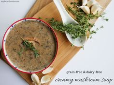 This paleo-friendly cream of mushroom soup will knock the socks off any other mushroom soup you've tried before. It's rich, thick, creamy and it has a bite to it. This isn't the bland and boring mushroom soup that you get in a can - oh no, this soup is something quite special.