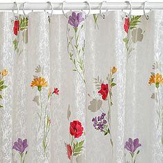 jcp | India Ink Wild Flower PEVA Shower Curtain