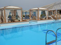 New Princess #cruise ship the Regal Princess | The Retreat has six private cabanas available at an extra charge.