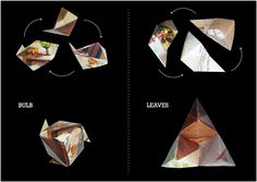 Rosa, Rosae_origami bouquet by Riccardo Campagnaro, via Behance
