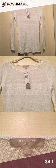 Joan Vass white sheer long sleeve tunic xs 🆕NWT on trend adorable white sheer long sleeve shirt/tunic size XS.            ☀️perfect for summer ☀️ Joan Vass Tops Blouses