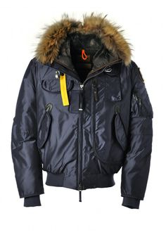 Sale Authentic Parajumpers Gobi Bomber Jacket Mens Navy