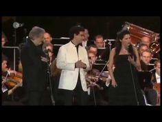 Anna Netrebko, Placido Domingo and Rolando Villazón sing Libiamo ne' lie...