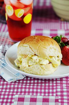 Egg Salad on Potato Rolls - made this today and love it. I used to HATE egg salad and the thought of it made me nauseous, and now I know what I was missing out on!