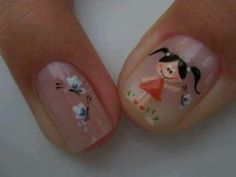 Cute Nail Art, Cute Nails, Pretty Nails, Acrylic Nails, Gel Nails, Colorful Nail Designs, Nail Colors, Finger, Hair Beauty
