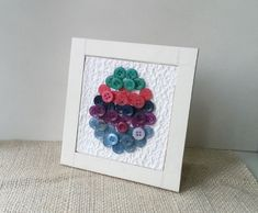 Easter is near and we're all looking for fun and colorful ways for decoration. This colorful button frame is an inexpensive and artistic decoration piece, and you can easily make one in no ti…
