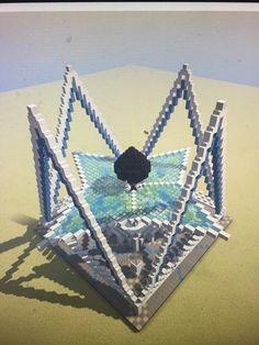 Read a message - Orange Mail Source by Villa Minecraft, Minecraft Building Guide, Minecraft Structures, Minecraft Castle, Minecraft Medieval, Minecraft Plans, Minecraft Tutorial, Minecraft Architecture, Minecraft Blueprints
