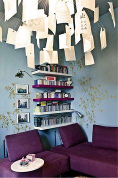 Paper note chandelier