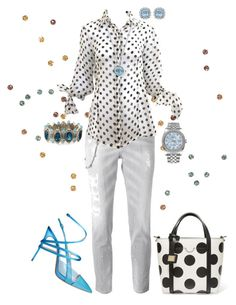 """Polka Dots!"" by flippintickledinc ❤ liked on Polyvore featuring Dsquared2, Dolce&Gabbana, Casadei, Konstantino, Ippolita and Rolex"