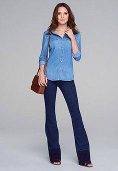 Compre o Look! Jeans mais Jeans. Sim ou Não ?   COMPRE ESSE PRODUTO NESSA LOJA: http://ift.tt/29EBuPw