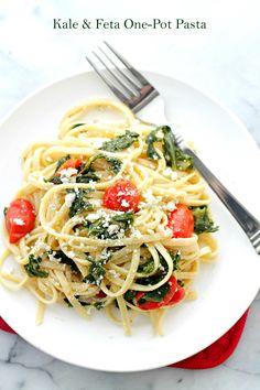 Kale and Feta Pasta