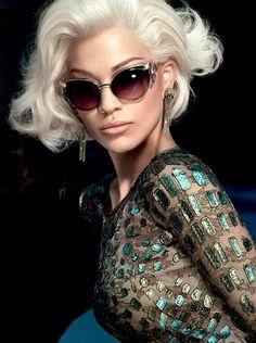 Rita Ora for Roberto Cavalli Fall 2014 Eyewear Only Fashion, Love Fashion, Runway Fashion, Womens Fashion, Fashion Tips, Fashion Outfits, Fashion Trends, Sunglasses Outlet, Ray Ban Sunglasses