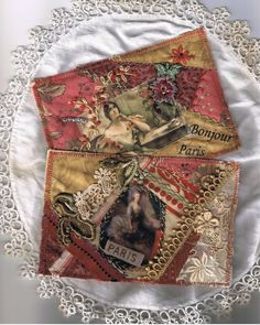 I ❤ crazy quilting & embroidery . . . I have been making quilted postcards and will show you more as I complete them. They can actually be mailed, but must be hand canceled. ~By Just Lilla