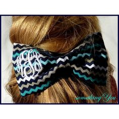 Monogrammed Fabric Hair Bow Multi Color Chevron Fabric Personalized... ($20) ❤ liked on Polyvore featuring accessories, hair accessories, barrettes & clips, white, bow hair clip, white hair bow, white hair accessories, hair clip accessories and barrette hair clip