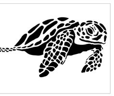 Items similar to Reusable Laser-Cut Stencil Sea Turtle on Etsy - Sea Turtle for cookies on 7 MIL Reusable Laser-Cut Stencil by PearlDesignStudio on Etsy - Laser Cut Stencils, Stencil Templates, Stencil Patterns, Origami Templates, Box Templates, Doll Patterns, Turtle Silhouette, Silhouette Clip Art, Silhouette Cameo Projects