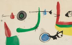 Joan Miró (1893-1983) Déballage II (1975) colour etching and aquatint on wove paper.