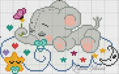 This Pin was discovered by Ana Baby Cross Stitch Patterns, Cross Stitch For Kids, Cross Stitch Baby, Cross Stitch Animals, Cross Stitch Charts, Cross Stitch Designs, Cross Stitching, Cross Stitch Embroidery, Hand Embroidery
