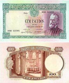 Portugal - 100 escudos – Pedro Nunes Entrada em circulação: 29-05-1963 Retirada de circulação: 21-12-1978 Disney Princess Memes, Money Notes, Need Money, Coins, Things To Come, History, World, Paper, Stamps