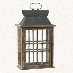 Wood & Glass Lantern - traditional - outdoor lighting - Terrain