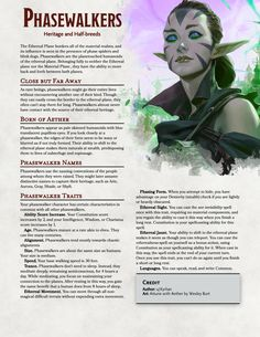 Phasewalkers - A Flavorful Race of Planetouched from the Ethereal Plane! | Heritage and Half-breeds : UnearthedArcana