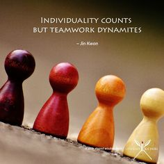 """""""Individuality counts but teamwork dynamites. Womens Worth, Community Organizing, Information Technology, Teamwork, Jin, Advertising, Lady, Quotes, Quotations"""