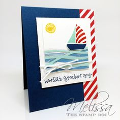 Swirly Bird stamp set and Swirly Scribbles thinlits Stylin' Stampin' INKspiration: Masculine Monday ~ Father's Day Edition