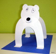 Lední medvěd ve stoje Emotikona smile http://tippytoecrafts.blogspot.ro/2012/01/standing-polar-bears.html