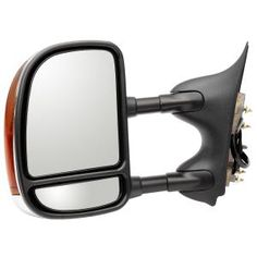 2004 Ford F-250 Towing Mirror Passenger Side Assembly:  Description:Power, Heated, With Signal, Fold Away, Textured, Black  Dimensions:7.87x13.35x18.62  Retail Price:$515.25   Fits:  2004 Ford F-250 Super Duty  2003 Ford F-250 Super Duty  Color:Textured  Finish:Black  Part No:FDS09410KR  OEM No:5C3Z17682EAA