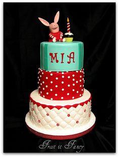 olivia theme b-day cake