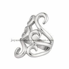anillo elegante de plateado en acero inoxidable para mujer-SSRGG371453