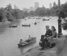 Manhattan: Central Park Lake (September 1942), by Marjory Williams