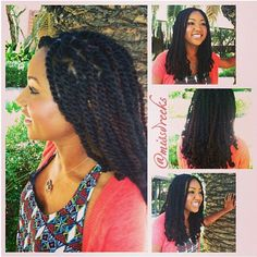 HAVANA TWISTS love the blended color of the hair. Its a perfect length also! Natural Hair Braids, Natural Hair Tips, Natural Hair Styles, Long Hair Styles, Natural Girls, Protective Hairstyles, Curled Hairstyles, Protective Styles, Black Hairstyles
