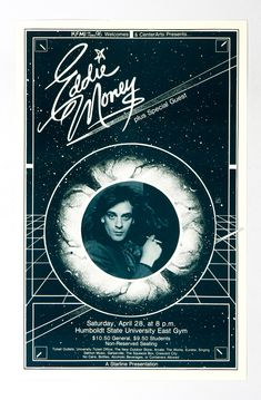 Eddie Money 1979 Apr 28 Humboldt State University East Gym Poster