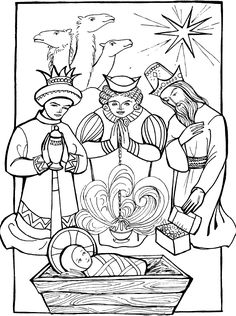 magi coloring pages | wise_men_1.GIF 835 x 1120