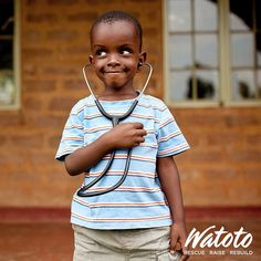 Greetings from future Doctor Moses. Happy Monday from #Watoto!
