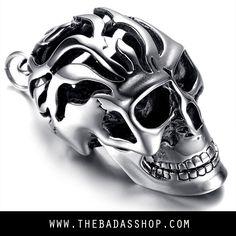 Men/'s Biker Bad Ass Stainless Steel Skull Wrenches Necklace USA Seller!