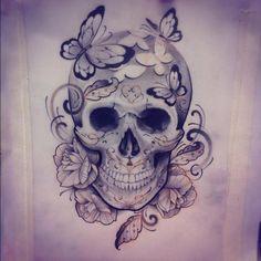 Edu Tatto skull - Tattoos Bone Tattoos, Body Art Tattoos, Sleeve Tattoos, Tatoos, Rosary Tattoos, Tatto Skull, Sugar Skull Tattoos, Sugar Skulls, Skull Art