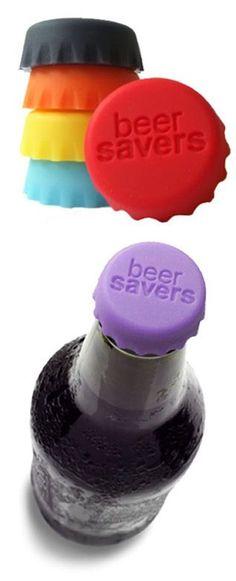 Beer Saver Bottle Caps <3 BPA Free {will work on bottle sodas & wine coolers too}