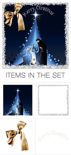 """""""The Greatest Gift of all"""" by musicfriend1 ❤ liked on Polyvore featuring art, IBelieve, MerryChristmas, LukeChaperTwo and TheGreatestGift"""