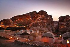 The silence of the desert with its limitless sand, its cliffs and sand dunes makes Wadi Rum Camping a lifetime experience. With the blood red reflection of the sun on night during the twilight makes the magic stay forever in the heart of the travellers. The rock bridges, sand dunes, quiet canyons and a spring of Lawrence near a temple of the Nebatean makes the trip exciting.