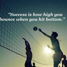 """Success is how high you bounce when you hit bottom."" #quotes #success #struggle"