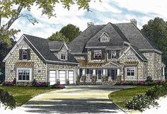 Plan 17530LV: Shingle Style with Welcoming Porch