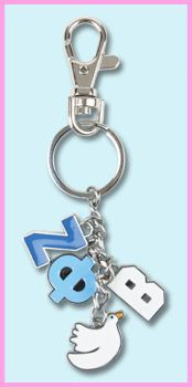 Zeta Phi Beta Charm Keychain | SomethingGreek.com