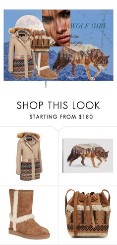"""Wolf Girl"" by jojohanakana on Polyvore featuring iCanvas, UGG Australia, Vanessa Bruno, cute, warm and polyvorefashion"
