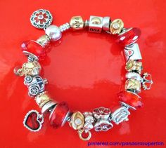 The power of Pandora Red Muranos with the enamel - gorgeous