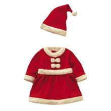 Toddler Baby Girl Christmas Suits Winter Party Clothes Bowknot Dress+ HatFree&Drop Shipping L4(China (Mainland))