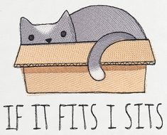 If it Fits I Sits | Urban Threads: Unique and Awesome Embroidery Designs