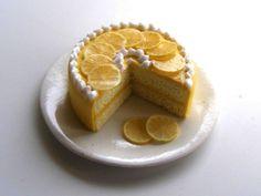 Lemon cake - Miniature in 1:12 by Erzsébet Bodzás, IGMA Artisan