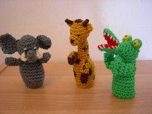Fingerpuppen - Im Urwald 2: Elefant, Giraffe, Krokodil