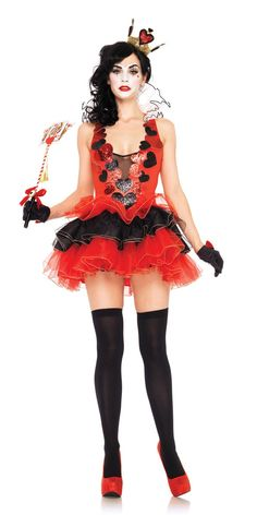 Black Heart Queen Costume - 83950 - Fancy Dress Ball